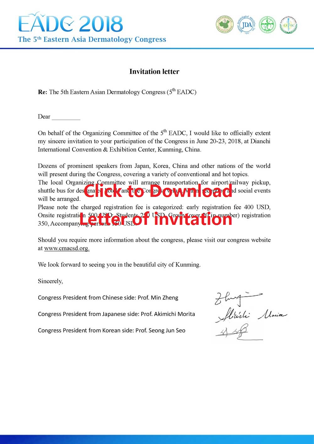 Click to download letter of invitation 2018 click to download letter of invitation stopboris Image collections